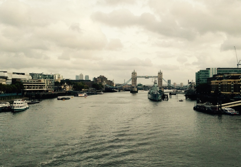 London Bridge on a cloudy day; around 2.00pm