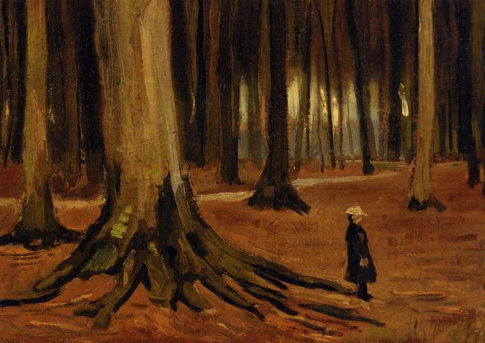 Girl in The Woods; Vincent Van Gogh