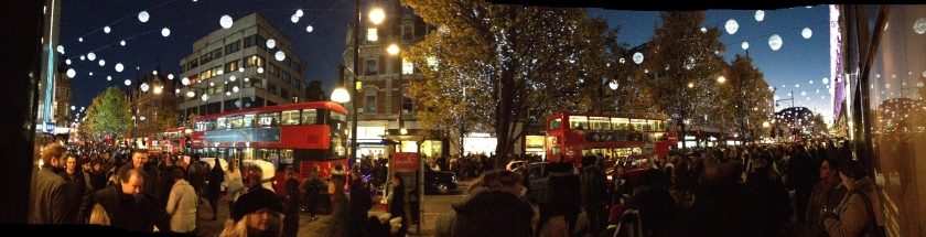 Panoramic view of Oxford Street